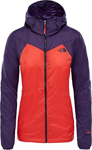 The North Face Flyweight Hoodie Women Fire Brick Red/Galaxy Purple Größe S 2018 Jacke (Track Jacket Face North)