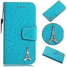 iPhone 7plus / iPhone 8plus (5.5 Zoll) Handyhülle [Premium Leder] [Standfunktion] [Kartenfach] [Magnetverschluss] PU Schlanke Leder Brieftasche für Apple iPhone 7plus / iPhone 8plus (5.5 Zoll)
