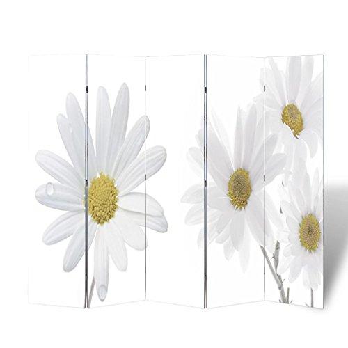 vidaXL Biombo impresión de la flor 200 x 180 cm Decoración Separador
