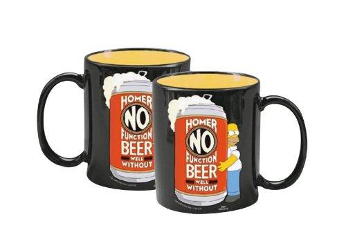 Spongebob Schwammkopf Simpsons Homer Kaffeetasse Tasse Kaffeebecher No Function without Beer