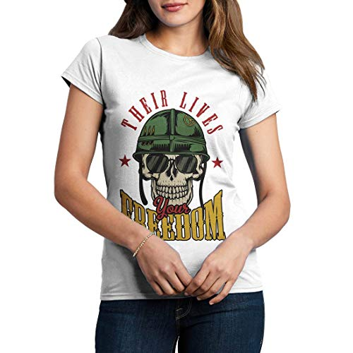C899WCNTW Damen T-Shirt Your Freedom Army Fighter Air Force Classic Jet Plane Aircraft US Military Base Vintage(X-Large,White) -