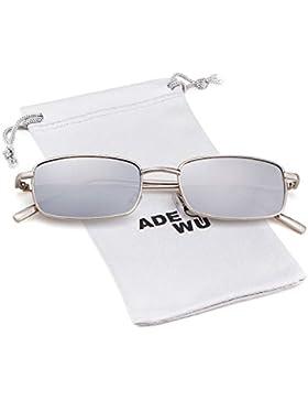 ADEWU Square Sunglasses Fashion Retro Glasses for Women Men