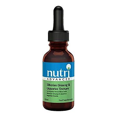 Nutri Advanced Siberian Ginseng & Liquorice Tincture 30ml Vegetarian Formula by Nutri