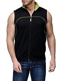 Scott Sleeveless Jacket Men's withzip Black