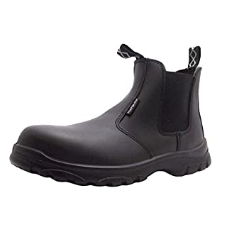 Size 8 Men's As-c7 Airsafe Formal Black Pull On Kevlar Toe Cap Chelsea Boots