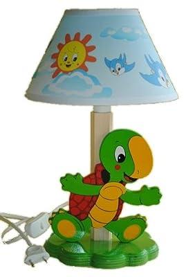 Tischlampe Schildkröte 35 cm hoch Lampe Stehlampe Tischleuchte Kinder von Kinder-Land auf Lampenhans.de