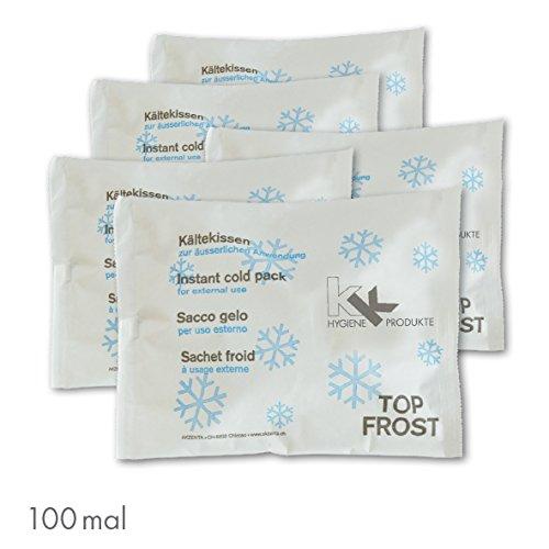 KK Hygiene Kälte Sofort Kompresse | 100 er Pack | Sofort Kühl-Kompresse | Kühlkompresse | Kühlpad | Kühlpack | 100 Stück