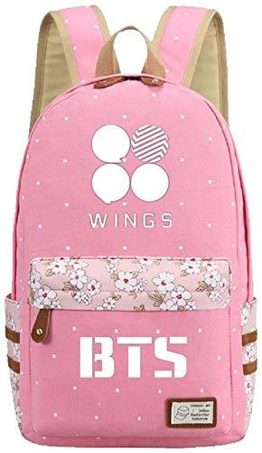 Augyuess Kpop BTS Bangtan Jungen Rucksack RUAN-LL-77 Daypack Laptop Tasche College-Tasche Schultasche Pink
