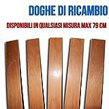 RETI D'AMORA Amora 3 geschwungene Leisten aus Buchenholz – Ersatzteil für Doga – 6,8 x 79 x 0,8 cm (Kit 3 Stück)