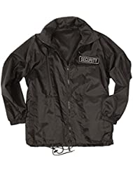 Mil-tec veste coupe-vent pour personnel de sécurité-noir