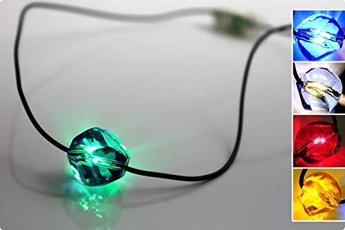 Ucult LED Schmuck Halskette mit Beleuchtung Farbe grün