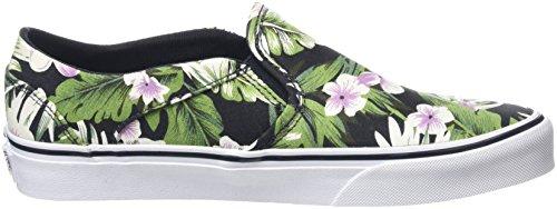 Vans Damen Asher Sneakers Mehrfarbig (Tropical flowers green)