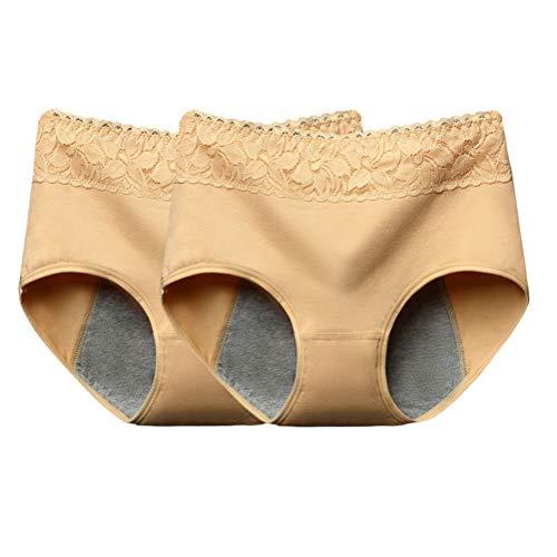 BESTOYARD 2 stück Menstruation Unterwäsche Damen auslaufsicher Slip Unterhose Größe M (Zufällige Farbe)