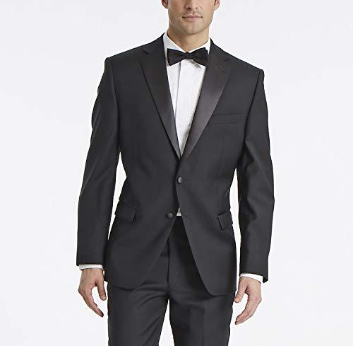 Calvin Klein Smoking Anzug für Herren, modern, 100% Wolle, Verschiedene Größen - Schwarz - 48 Kurz -