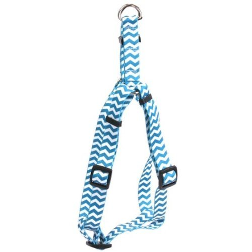 Yellow Dog Design Blueberry Chevron 25-Feet to 40-Feet Step-In Harness, Large by Yellow Dog Design (Large Blueberry Dog Harness)