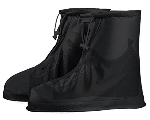 Eagsouni Zapatos Cubiertas Impermeable Lluvia de Zapatos Botas Protectores Antideslizante Resistente al Desgaste para Mujere Hombre Moto Cicleta y Bicicleta