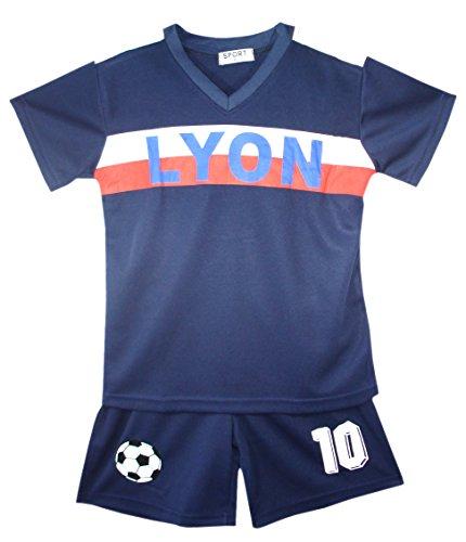 Fußball Trainingsanzug Jungen Top T-Shirt Shorts Kit Set Größe Alter 2-12 Jahre (Alte Fußball-kits)