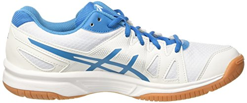 Asics Herren Gel-Upcourt Volleyballschuhe Elfenbein (White/blue Jewel/white)
