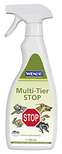 Wenko Multi Animaux Stop Contenance, 0,5 l, transparent, 9 x 4 x 28 cm, 82823500