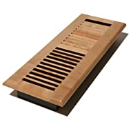 Decor Grates WML414-N 4-Inch by 14-Inch Wood Floor Register, Natural Maple by Decor Grates