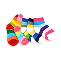 Baby Toddlers Kids 5-PACK RAINBOW SOCKS Age 1 to 12