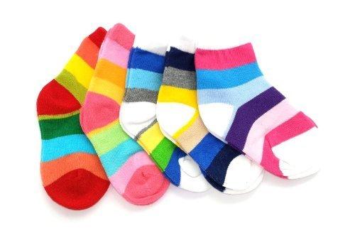 Colourful Baby World - Chaussette - Bébé (garçon) 0 à 24 mois Multicolore Bigarré - Multicolore - Bigarré - moyen