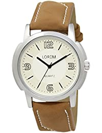 D B Fashion Analogue White & Brown Colour Dial And Leather Belt Stylist New Design Wrist Analogue Watch Made In...