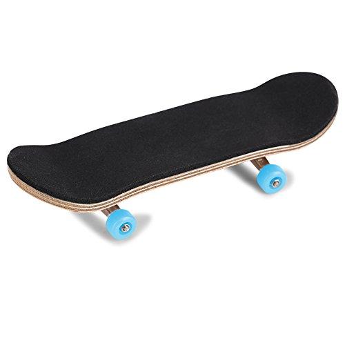 Duokon Griffbretter, 1 Stück Ahornholz + Legierung Griffbrett Finger Skateboards Mit Box Reduzieren Druck Kinder Geschenke(Hellblau)