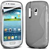 Connect Zone� Clear S-Line Gel Skin Case Cover For Samsung Galaxy Fame S6810 With Free Screen Protector + Polishing Cloth & Mini Touch Screen Stylus