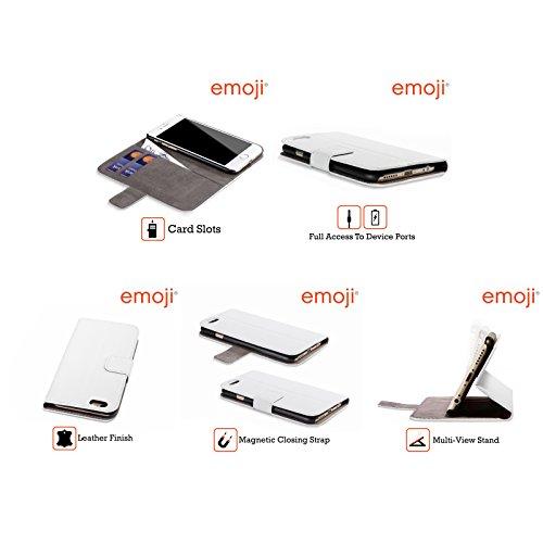 Offizielle Emoji Verliebt Smileys Brieftasche Handyhülle aus Leder für Apple iPhone 5 / 5s / SE Glücklich