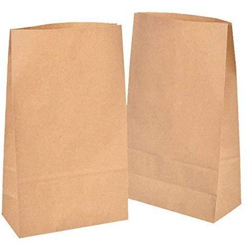 50 Stk Papiertüten klein 18 x 30 x 8 cm Adventskalender zum befüllen, Kinder, Bodenbeutel, Obstbeutel, Mitgebsel Kindergeburtstag, Süßigkeiten, Geschenkverpackung, Tüten aus Braun Kraft Geschenkpapier