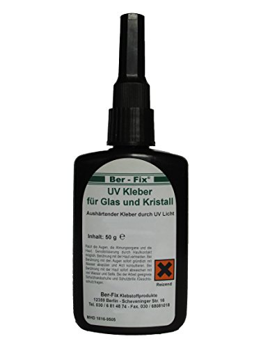 UV colla poco viscosa BerFix per vetro/vetro e vetro/cebbra 50-100, 50 G