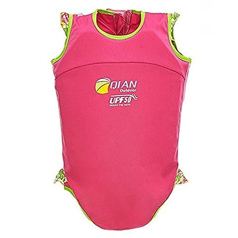 Highdas Kinderschwimm Float Suit Schwimmhilfe Neopren Anzug One-piece Schnell trocknend Mädchen Swim Trainer, Rosa 1-2 Jahre tragen