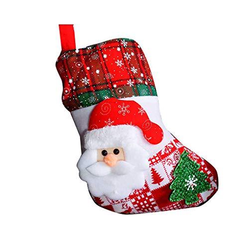 Gankmachine Snowflake Weihnachtssocken Weihnachtsmann Schneemann Elch Bär Folks Tasche Süßigkeit-Geschenk-Beutel-Strümpfe -