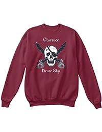 Teespring Men's Novelty Slogan Sweatshirt - Clarence's Pirate Ship