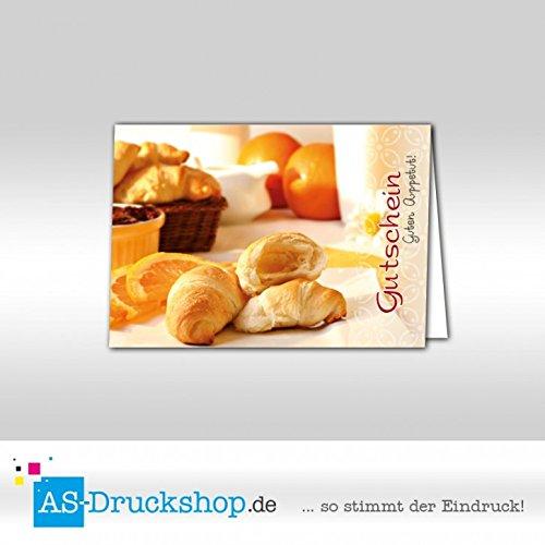 Gutschein Bäckerei Breakfast / 50 Stück/DIN A6