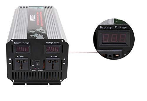MAQLKC Spannungswandler, Reine Sinus Wechselrichter High Power 3000W Solar Wechselrichter Auto Wechselrichter 12V24V wiederum 220V