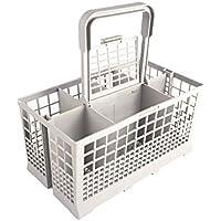 Cesta universal de cubiertos para lavavajillas | 24 x 13,50 x 12,50 cm | Sierte compartimentos | Gris | Talla única