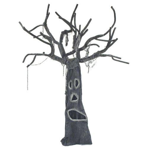 Europalms Halloween Horrorbaum 160cm | Stehende Figur | Baum besteht aus Leinen, Holz und Metall