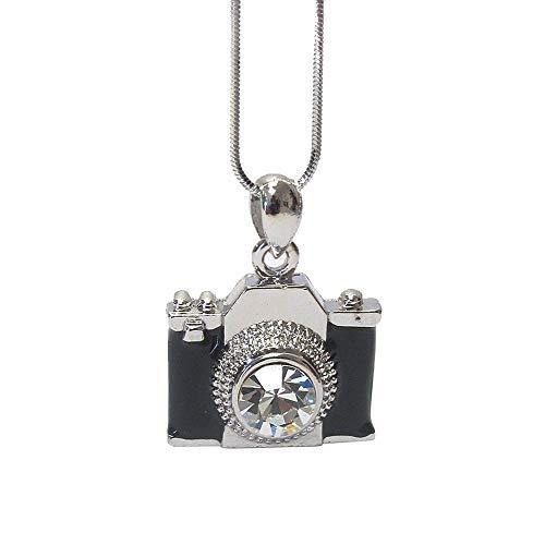 Lola Bella Gifts Damen Kristall-Kamera Halskette mit Geschenk-Box (Halskette-geschenk-boxen)