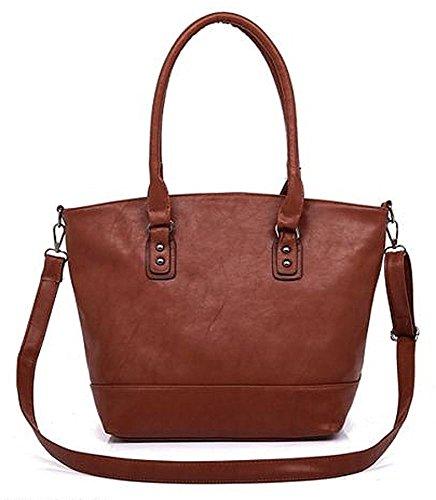 Kukubird Ecopelle Minimalista Contemporaneo Tote Handbag Shoulder Bag Reddish Brown