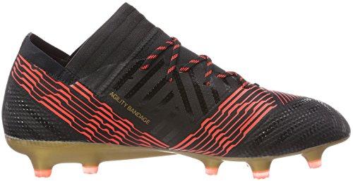 adidas Herren NEMEZIZ 17.1 FG Fußballschuhe, Weiß/Schwarz, 43 1/3 EU Mehrfarbig (C Black C Black S O L Re D)