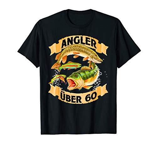 Angler über 60 - Angel T Shirt - Geburtstags Geschenk -