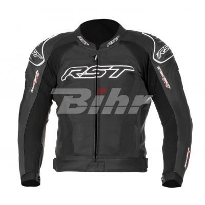 RST TRACTECH EVO II 1425 Leather Motorcycle Jacket Flo Green, Black