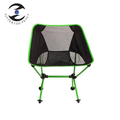 L&J Plein Air Camping Chaises Pliantes, Alliage D'Aluminium Portable Durable Chaise De Pêche, Le Picnic Barbecues Peinture Croquis, Charge 150kg-vert