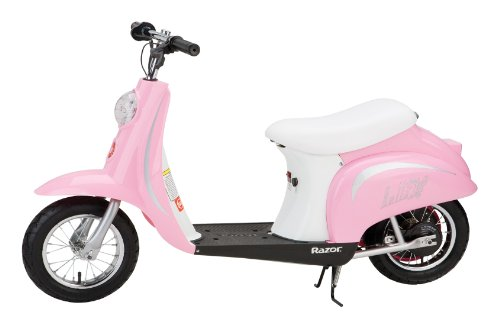 Razor Pocket Mod-Bella Unisex Electric Bike Pink 1 speed hand-operated rear brake high-torque motor with chain drive