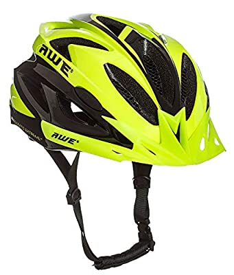 AWE FREE LIGHT & AWEAirTM In Mould Adult Mens Cycling Helmet 58-61cm Neon from AWE
