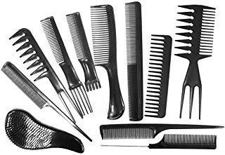 Daimay Professionelles Haar-Styling-Kamm-Set Haarstyling Clips Salon Hair Styling Friseur Kamm Set Auswahlpackung von 11 für Alle Haartypen - Schwarz