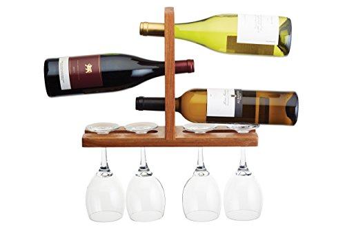 bar Craft 35x 26.5x 10cm bottiglia e bicchiere da parete