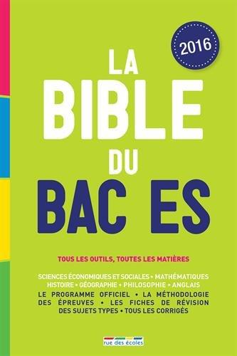 La Bible du bac ES, édition 2016